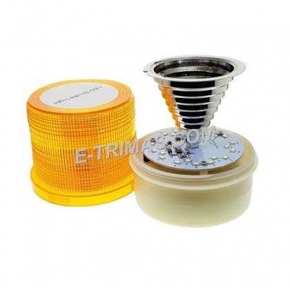LED Portable Battery Powered Warning Flash Strobe Rotating Beacon Tractor Light