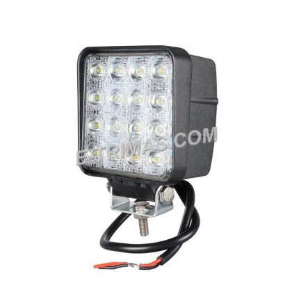 "48W 4"" LED 12V 24V Square Work Lamp Off-Road Sport Light Forklift Boat Truck"
