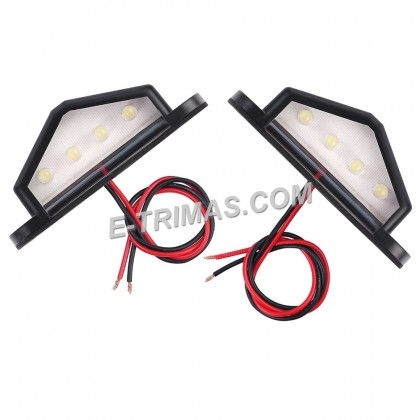 LED License Number Plate Light Rear Lamps Boat Trailer Truck Van Caravan Lorry
