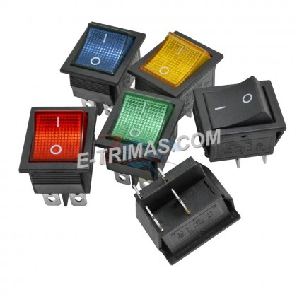 Rocker Switch Button ON OFF 2 Position 4 Pins With Light Power Switch