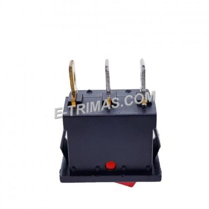 Red illuminated LED Rectangle Rocker Switch Car Dash Automotive 12V SPST