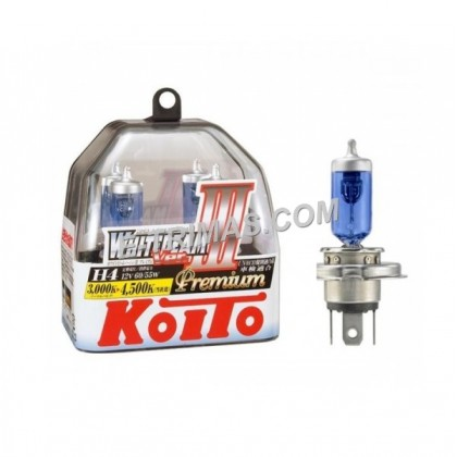 ORIGINAL Koito-P0744W Japan H4 12V White 60/55W High Low Beam Toyota Honda 4200K