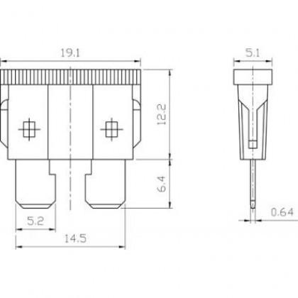 Blade Fuse, Auto Plug Fuse, Car Fuse 10-40Ampere (100PCS)