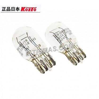 10PCS ORIGINAL Koito Toshiba Japan 1891 T20 7443 W21/5W 12V Toyota Perodua Tail Lamp Brake Bulb