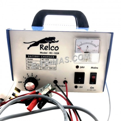 15AMP Relco Heavy Duty Car Automotive Lead Acid & Calcium DC Battery Charger
