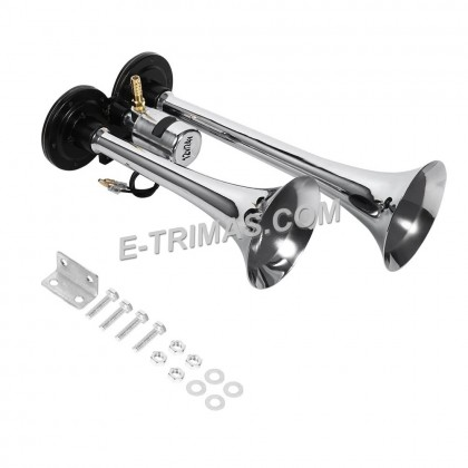 Super Loud Dual Trumpet Electric Horn Dual Air Horns Speaker Trumpet Marine Horn Set Universal