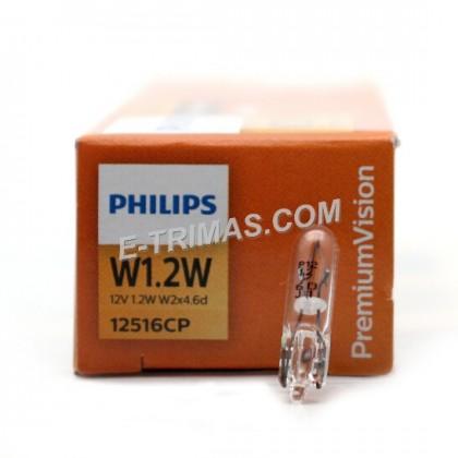 12516CP Genuine Philips Meter Dashboard Mini Panel Bulb W1.2W (2PCS)