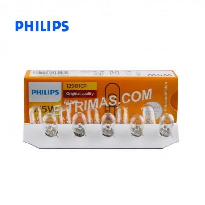 12961 Original Philips W5W 12V5W W2.1 x 9.5d Automotive Lighting (2PCS)