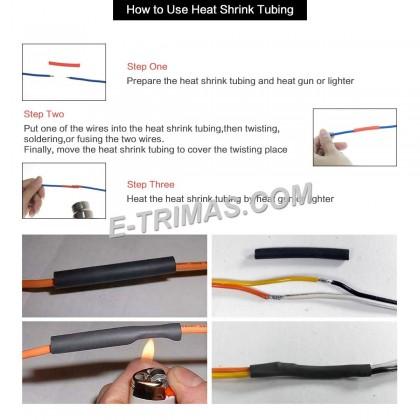 Medium Wall Waterproof Heat Shrink Insulation Tubing 3:1 Ratio (1M)