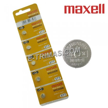 Maxell Japan SR626SW AG4 GA4 SR626 LR626 LR66 Watch Coin Battery (5PCS)