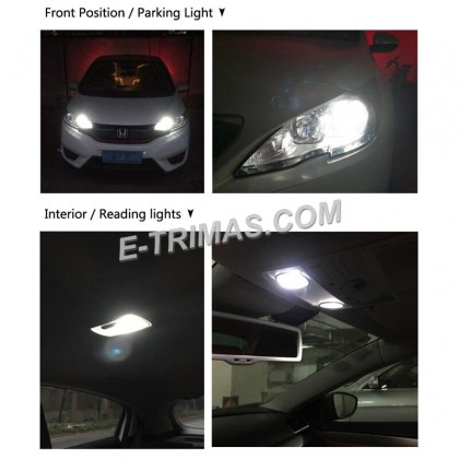 Philips Ultinon LED T10 W5W 12V  6000K Cool White Car Turn Signal Interior Light