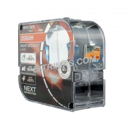 64211NBL OSRAM Night Breaker Laser H11 Headlight Xenon Halogen Car Bulb (1SET)