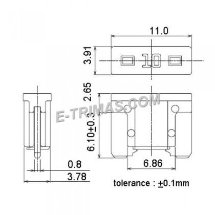 LPMIN Low Profile Mini Blade Fuse, Super Mini Micro Car Plug Fuse (10PCS)