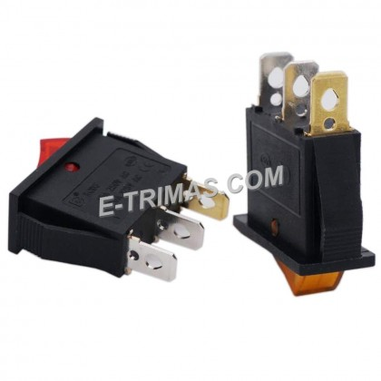 3 Pins 2 Position LED Light Illuminated Boat Rocker Switch Toggle