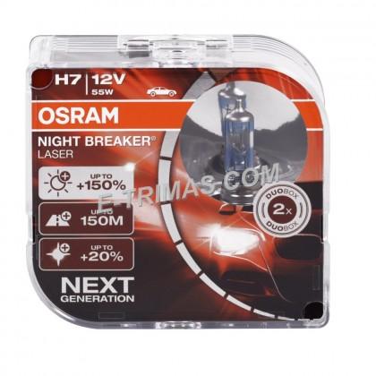 64210NBL OSRAM Night Breaker Laser H7 +150% Headlight Xenon Halogen Car Bulb