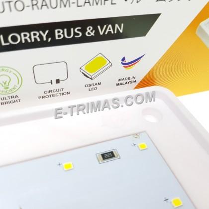 LED Interior Room Lamp Bus Box Van Lorry Truck 6000K Cool White