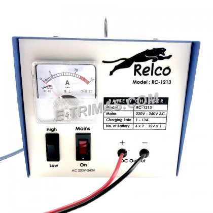 13AMP Relco Heavy Duty Car Automotive Lead Acid & Calcium DC Battery Charger