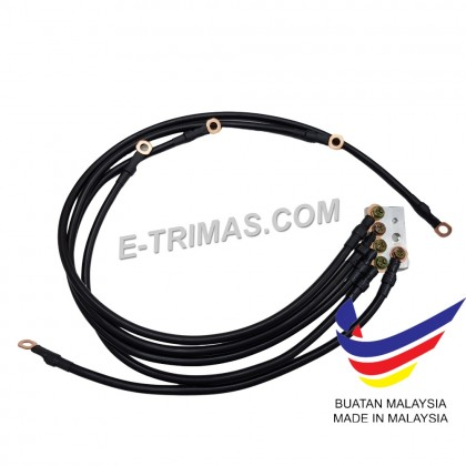 300A 100% PURE COPPER AWG 7 Gauge Grounding Performance Earth Cable Earthing Alternator Audio Wire