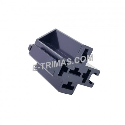 Universal 5 Pin Bosch Relay Socket Connector with Mounting (5 PCS)