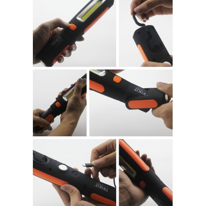 iTorch™ (rechargeable) Super Bright Working Lamp Torch Light with 2 Magnets and Hanging Hook