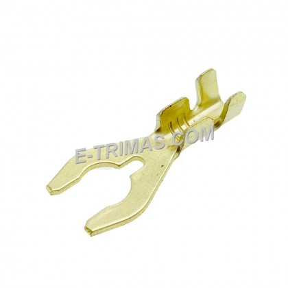 HX1502 Screw in V Shape Motorcycle Earthing Brass Terminal Clip (10PCS)