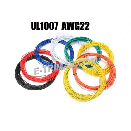 UL1007 22 AWG Hook Up Wire Tinned Copper Electrical Conductor (10M)