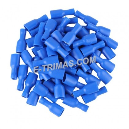 Fully Insulated Female Disconnects Terminal Blue (10PCS)