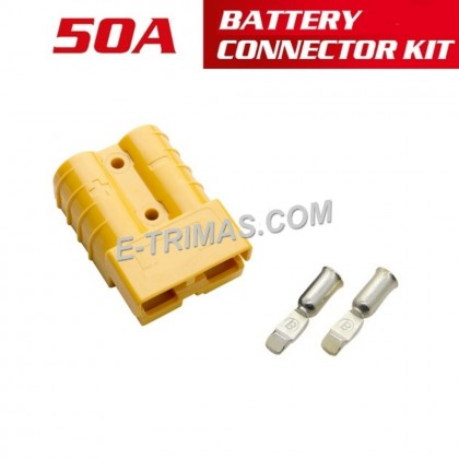 50A High Current Plug-In Anderson style Battery Booster Cable Ends