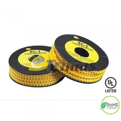 EC-0 Numbering 0-9 Cable Marker, Wire Marker (1000PCS/Coil)