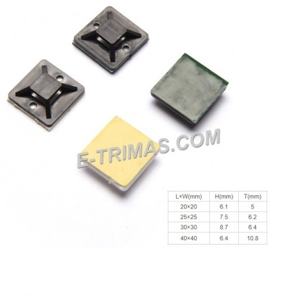 Nylon Adhesive Cable Tie Mount Wire Mounting (10PCS)