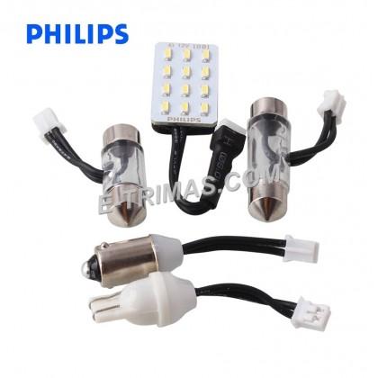 12957 Philips Ultinon LED G14 6000K Multi Socket Reading Interior Light