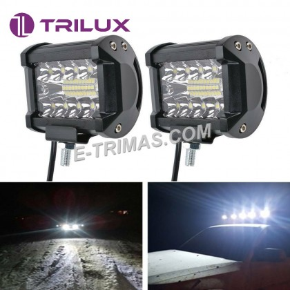 """10V-60V 4"""" LED Light Bar Work Lamp Flood Spot Light SUV Boat Tractor Truck"""