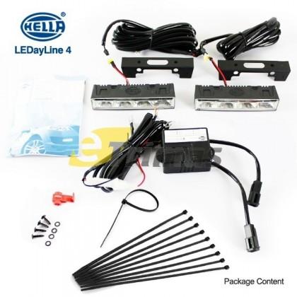 Genuine HELLA LEDayline 4 Daytime Running Lights 12V DRL LED Complete Kit