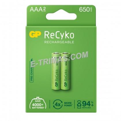 ORIGINAL GP Recyko AAA Rechargeable Battery 650mAh (2PCS)