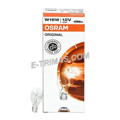 10PCS ORIGINAL Osram T15 W16W 921 Perodua Toyota Third Brake Parking Signal Reverse Bulb Mentol 12V