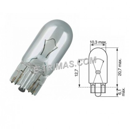 17197 Narva ORIGINAL W5W 24V Heavy Duty Signaling Marker Light Bulb (2PCS)
