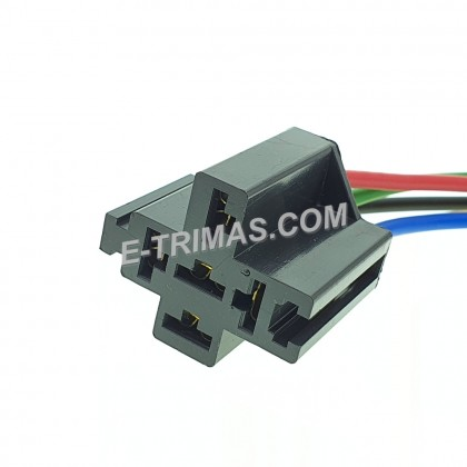 HX-3770-A Interlocking 5 Pin Bosch Relay Holder Socket Holder