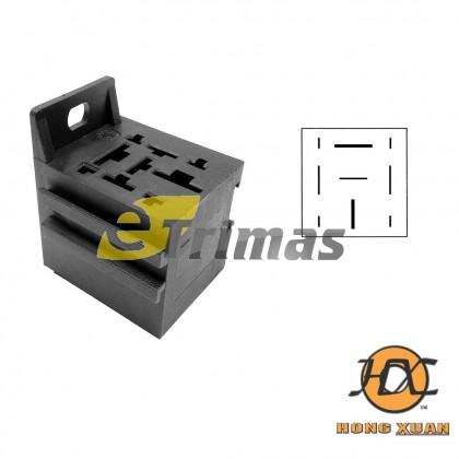 2 Big 3 Small Pin Heavy Duty 80Amp Car Relay Socket Connector