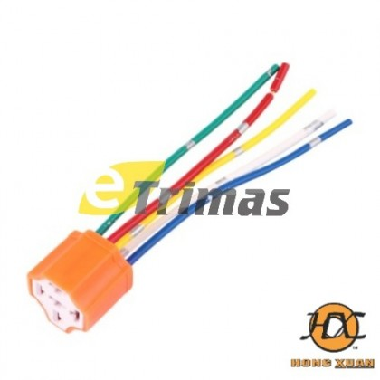 5 Pin High Temperature Automotive Ceramic Relay Socket Holder (5PCS)