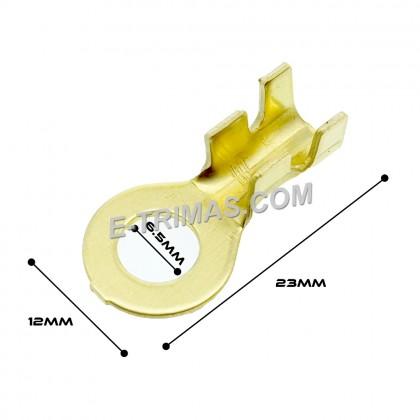 HX1863A Ring Type Copper Brass Terminal Clip (10PCS)