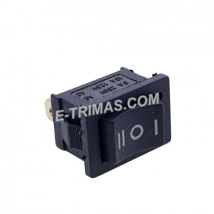 HX-1014 3 Pin Terminal Snap-in On-Off Boat Rocker Switch Black (2PCS)