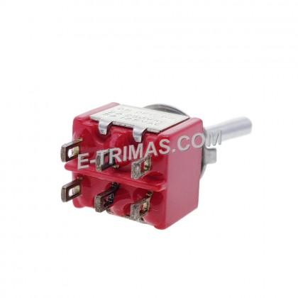 HX-1004 6 Pin On-Off-On Toggle Rocker Switch (2PCS)