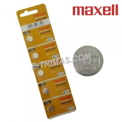Maxell Japan SR920SW AG6 371 LR920 SR371SW LR69 Coin Battery (5PCS)